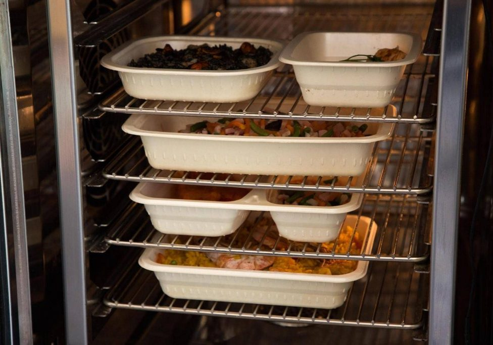 BFPUK - Percent Compostable Meal Tray in Oven